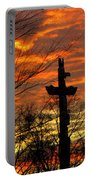 School Totem Pole Sunrise Portable Battery Charger