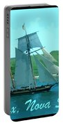 Schooner And Lighthouse Portable Battery Charger