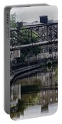 Schuylkill Canal In Manayunk Portable Battery Charger by Bill Cannon