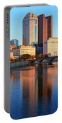 Scioto River And Columbus Ohio Skyline Portable Battery Charger