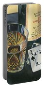 Scotch And Cigars 2 Portable Battery Charger by Debbie DeWitt