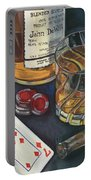 Scotch And Cigars 4 Portable Battery Charger by Debbie DeWitt