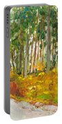 Scottish Forest In Spring Portable Battery Charger