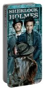 Scottish Terrier Art Canvas Print - Sherlock Holmes Movie Poster Portable Battery Charger