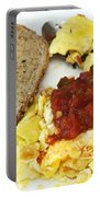 Scrambled Eggs And Salsa Portable Battery Charger