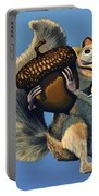 Scrat Of Ice Age Portable Battery Charger by Paul Meijering