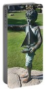 Sculpture - Boy With Sailboat Portable Battery Charger