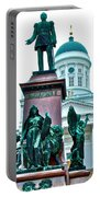 Sculpture Of Alexander II In Cathedral Of Helsinki-finland Portable Battery Charger