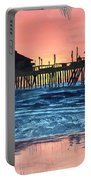 Sd Dock At Sunset Portable Battery Charger