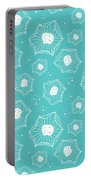 Sea Flower Portable Battery Charger by Susan Claire