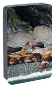 Sea Lions On The Sea Shore Portable Battery Charger