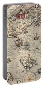 Sea Map By Olaus Magnus Portable Battery Charger