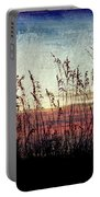 Sea Oats At Sunrise Portable Battery Charger