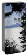 Sea Of Fog Over An Alpine Lake Portable Battery Charger