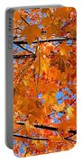 Sea Of Orange And Blue Portable Battery Charger