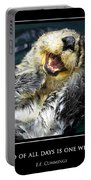 Sea Otter Motivational  Portable Battery Charger by Fabrizio Troiani