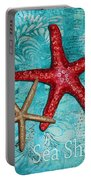 Sea Shore Original Coastal Painting Colorful Starfish Art By Megan Duncanson Portable Battery Charger