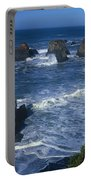 Sea Stacks Central Coast Near Rockport California Portable Battery Charger