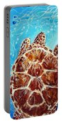Sea Turtles Swimming Towards The Light Together Portable Battery Charger
