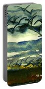 Seabirds Rising From The Marsh 2-27-15  Portable Battery Charger