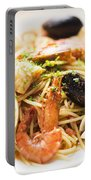 Seafood Pasta Dish Portable Battery Charger