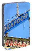 Seafood Sign Portable Battery Charger
