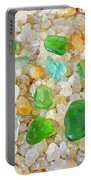 Seaglass Green Art Prints Agates Beach Garden Portable Battery Charger