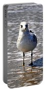 Seagull At Low Tide Portable Battery Charger
