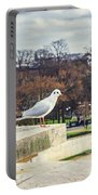 Seagull In Paris Portable Battery Charger