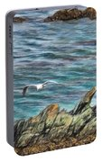Seagull Over Rocks Portable Battery Charger