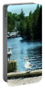 Seagulls On The Pier Portable Battery Charger