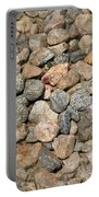 Seamless Background Gravel Stones Portable Battery Charger