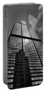 Sears Willis Tower Black And White 02 Portable Battery Charger