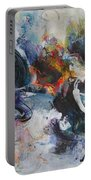 Seascape Abstract Painting Blue Purple Orange Acrylic Painting Portable Battery Charger