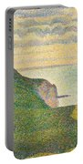 Seascape At Port En Bessin Normandy Portable Battery Charger by Georges Seurat