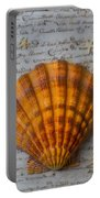 Seashell And Words Portable Battery Charger