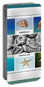 Seashell Collection 3 - Collage Portable Battery Charger