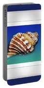 Seashell Wall Art 1 - Blue Frame Portable Battery Charger