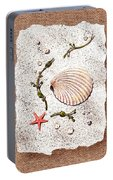 Seashell With Pearls Sea Star And Seaweed  Portable Battery Charger