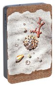 Seashells Coral Pearls And Water  Drops Portable Battery Charger
