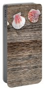 Seashells On Wood Portable Battery Charger
