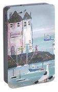 Seaside Houses Portable Battery Charger