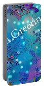 Season Greetings - Snowflakes Portable Battery Charger