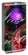 Seasons Greetings - Greeting Card - Purple - Red - Gold Portable Battery Charger