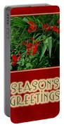 Season's Greetings Holiday Card - Crocosmia Portable Battery Charger
