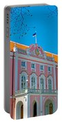 Seat Of Parliament In Old Town Tallinn-estonia Portable Battery Charger