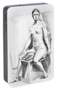 Seated Model Drawing  Portable Battery Charger