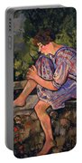 Seated Young Woman Portable Battery Charger
