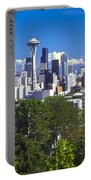 Seattle And Mt. Rainier Portable Battery Charger
