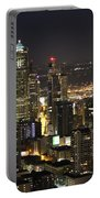 Seattle Skyline At Night Portable Battery Charger